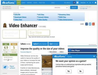 video-enhancer.en.softonic.com screenshot