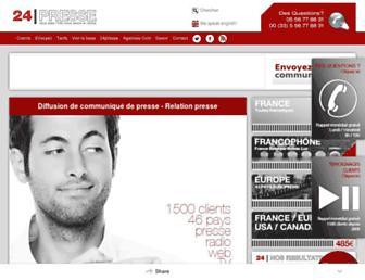 24presse.com screenshot