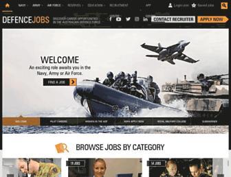 defencejobs.gov.au screenshot