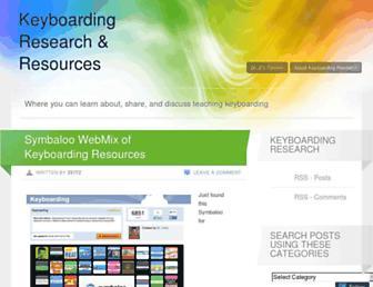 keyboarding.wordpress.com screenshot