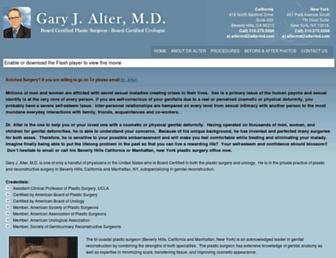 Thumbshot of Garyalterplasticsurgeon.com
