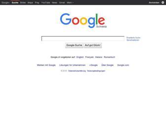 Main page screenshot of google.ch