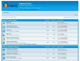 forum.audacityteam.org screenshot