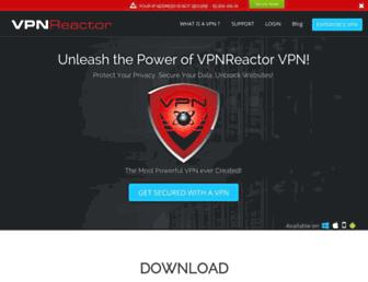 vpnreactor.com screenshot