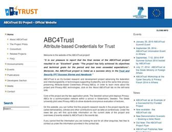 abc4trust.eu screenshot