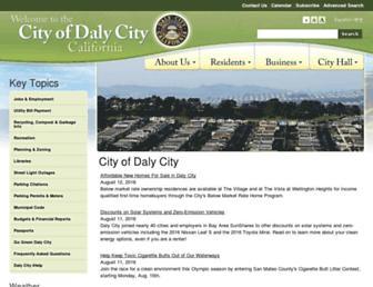 dalycity.org screenshot