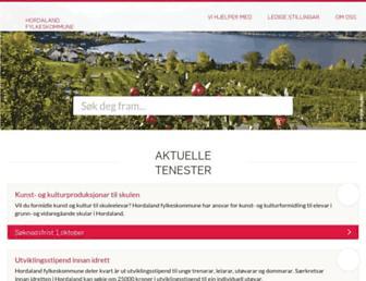Main page screenshot of hordaland.no