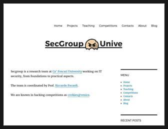 secgroup.dais.unive.it screenshot