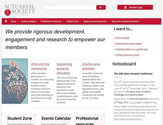 actuarialsociety.org.za screenshot