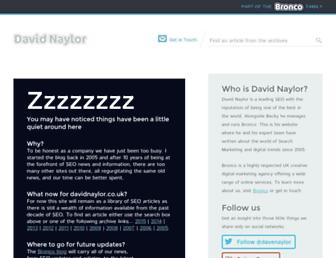 Main page screenshot of davidnaylor.co.uk