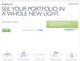 Thumbshot of Wikinvest.com