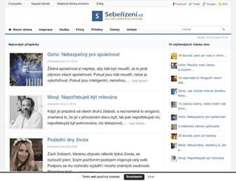 Main page screenshot of seberizeni.cz