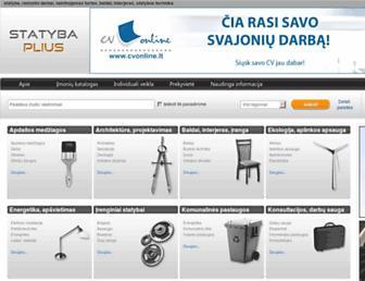 Main page screenshot of statybaplius.lt