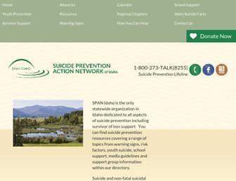 Main page screenshot of spanidaho.org