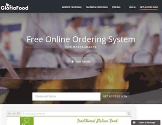 gloriafood.com screenshot