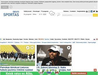 sportas.delfi.lt screenshot