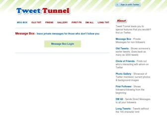 tweettunnel.com screenshot