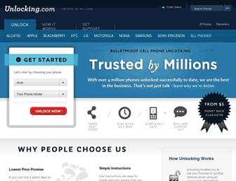 unlocking.com screenshot