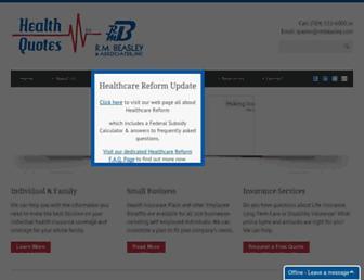 healthquotes-nc.com screenshot