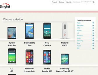 devicehelp.singtel.com screenshot