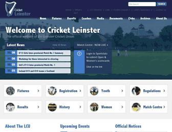 Thumbshot of Cricketleinster.ie