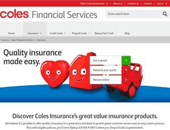 Thumbshot of Colesinsurance.com.au
