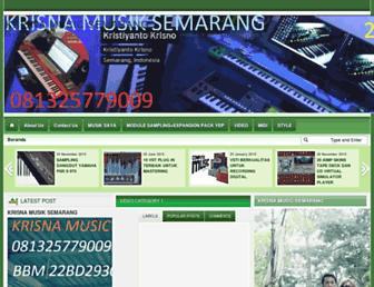 krisnamusic.blogspot.com screenshot