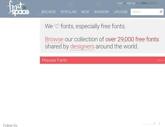 Thumbshot of Fontspace.com