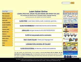 Main page screenshot of iluss.it