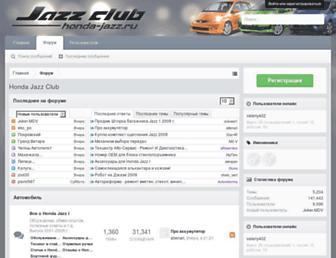 Main page screenshot of jazz-russia.ru