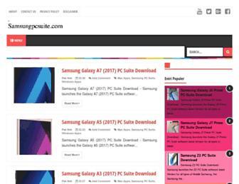 samsungpcsuite.com screenshot