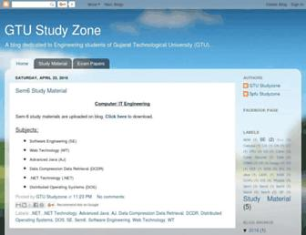 gtustudyzone.blogspot.com screenshot