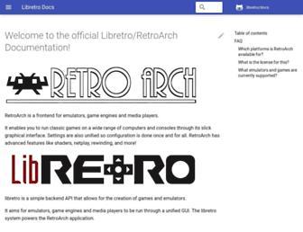 docs.libretro.com screenshot