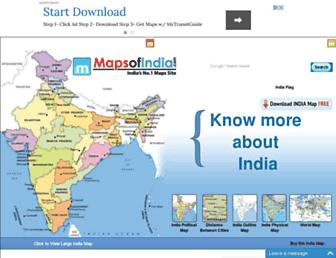 mapsofindia.com screenshot