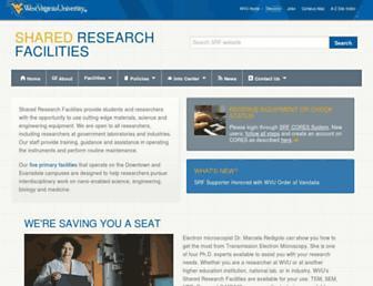 sharedresearchfacilities.wvu.edu screenshot