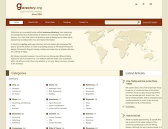 Main page screenshot of gdirectory.org