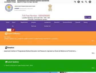 jipmer.puducherry.gov.in screenshot