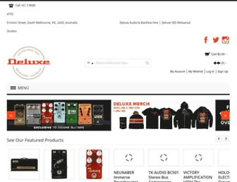 deluxeguitars.com.au screenshot