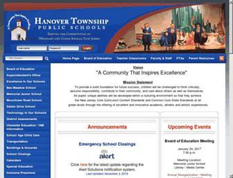 hanovertwpschools.com screenshot