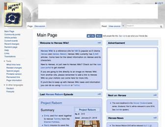 Thumbshot of Heroeswiki.com