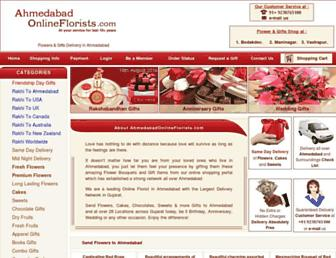 ahmedabadonlineflorists.com screenshot