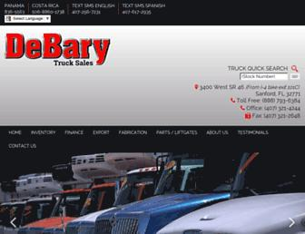 debarytrucksales.com screenshot