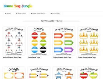 nametagjungle.com screenshot