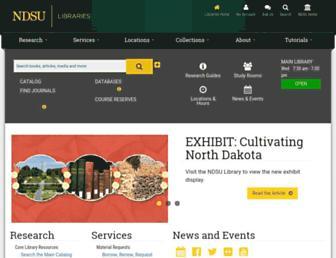 library.ndsu.edu screenshot