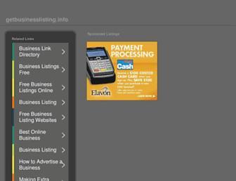 Thumbshot of Getbusinesslisting.info