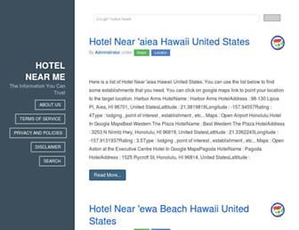 hotel.thenearest.net screenshot
