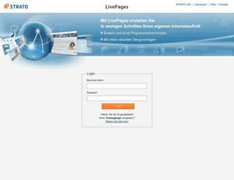 Main page screenshot of livepages.de