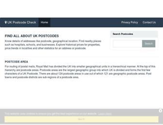 ukpostcodecheck.com screenshot