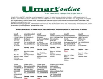 umart.com.au screenshot