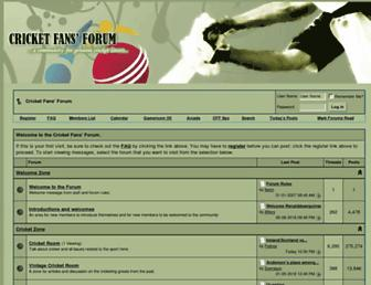 Thumbshot of Cricketfansforum.net